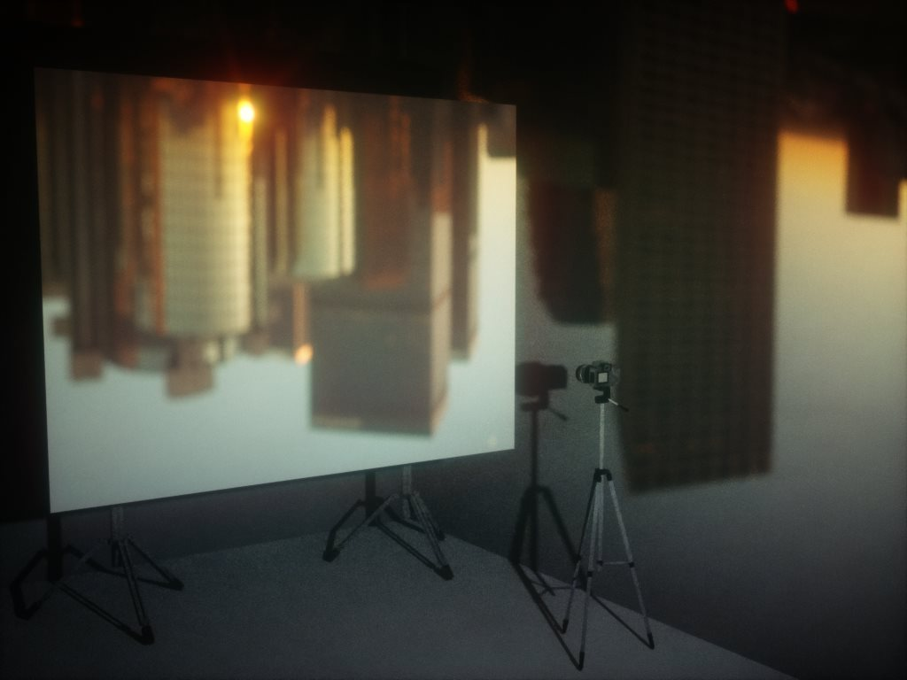 Room as camera obscura using Octane Render