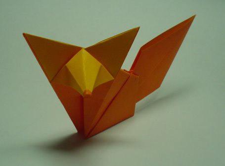 How to make an Origami Fox - Paper Fox ( Very Cute ) 1080P - YouTube | 337x455