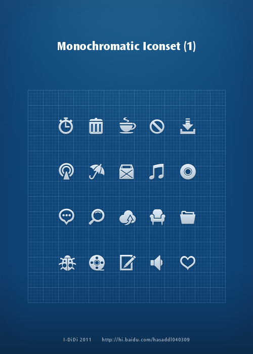 Monochromatic Iconset _1 by aipotuDENG