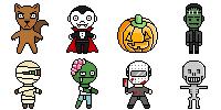 Halloween Set 1 by SpaceGirl-8