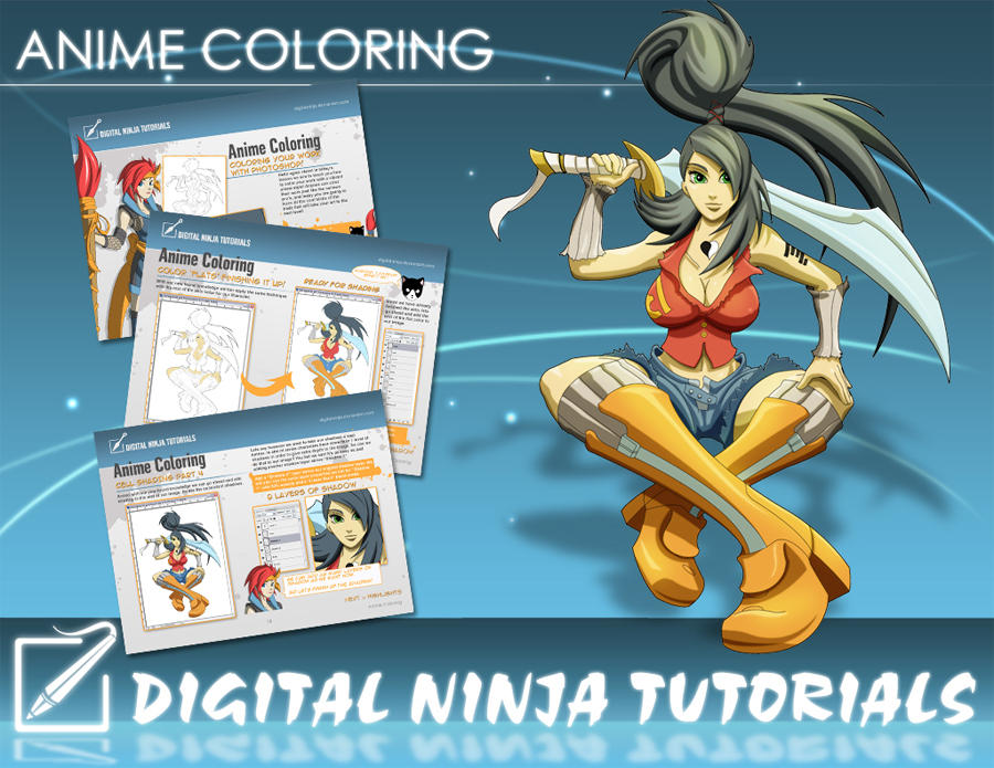 DN Tutorial:Anime Coloring PDF by digitalninja