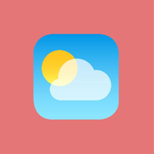 iOS 7 Weather App's icon [ai - PSD] by mozainuddin on DeviantArt