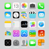 All of iOS 7 's icons Beta 1 [PSD] by mozainuddin