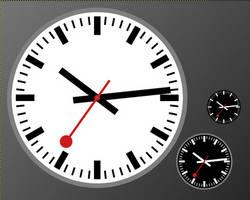 Swiss Railway Clock - Stop2Go edition by Monochromatope