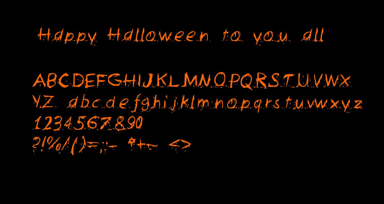 Happy Halloween Fonts - klejonka