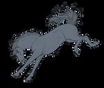 Free Horse Lineart Bucking
