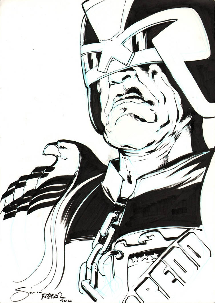 Judge Dredd by Simon Fraser for Fanfaire NYC by Dare2Draw