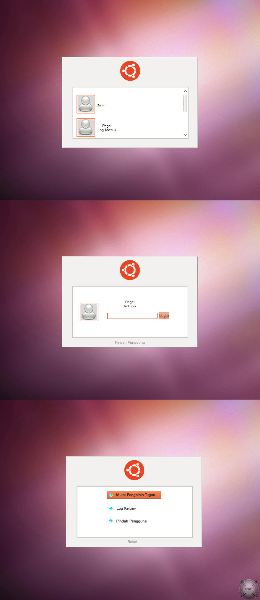 Ubuntu Logon for Windows 7 by pegel