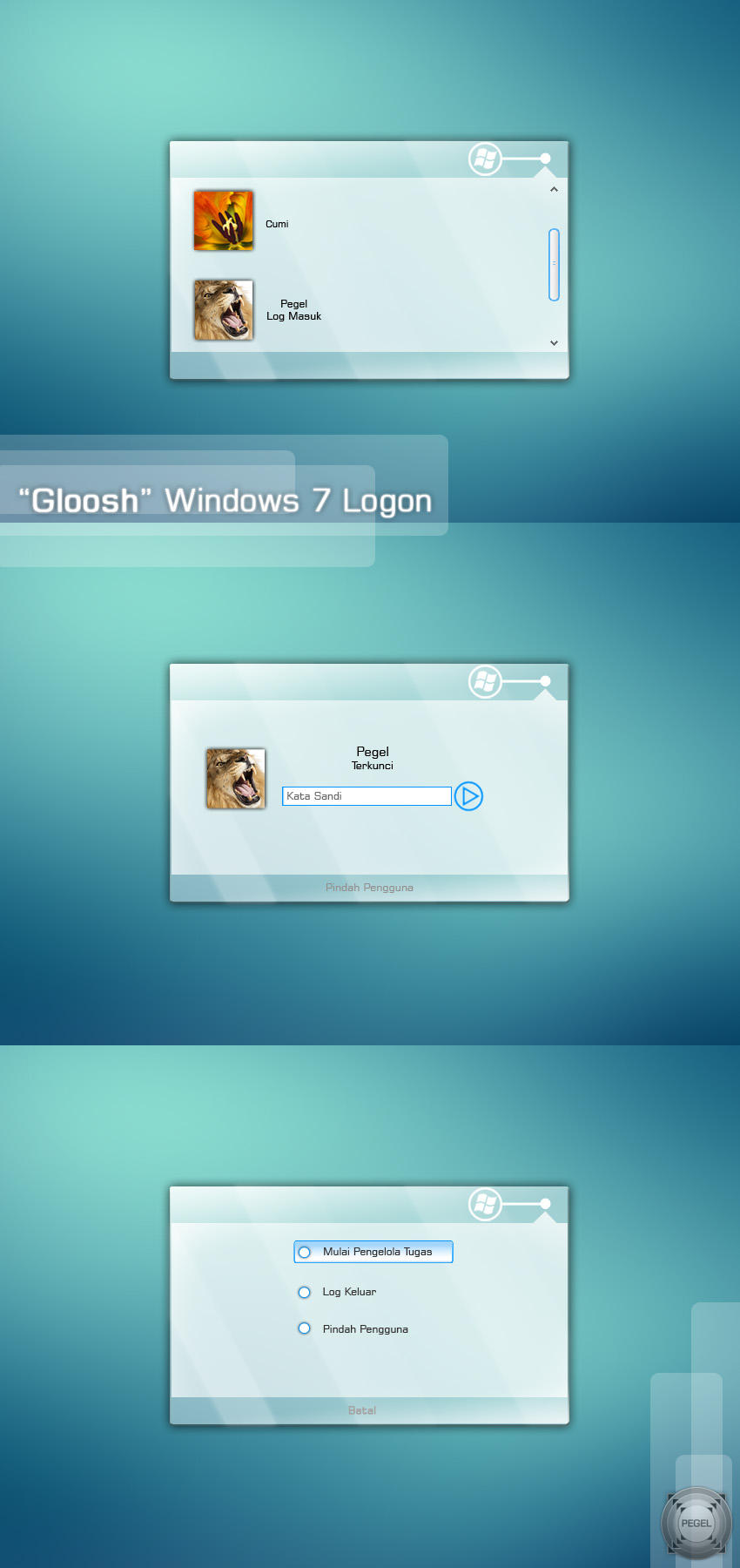 """Gloosh"" Windows 7 Logon by pegel"