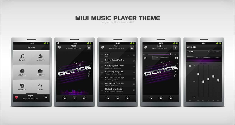 MIUI Music Player by Krokiart on DeviantArt