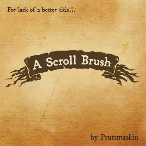 A Scroll Banner Brush by pruttmaskin
