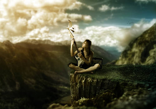 Music on a Cliff + .PSD