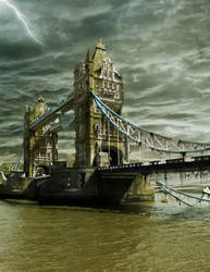 Ruins of Tower Bridge + .PSD
