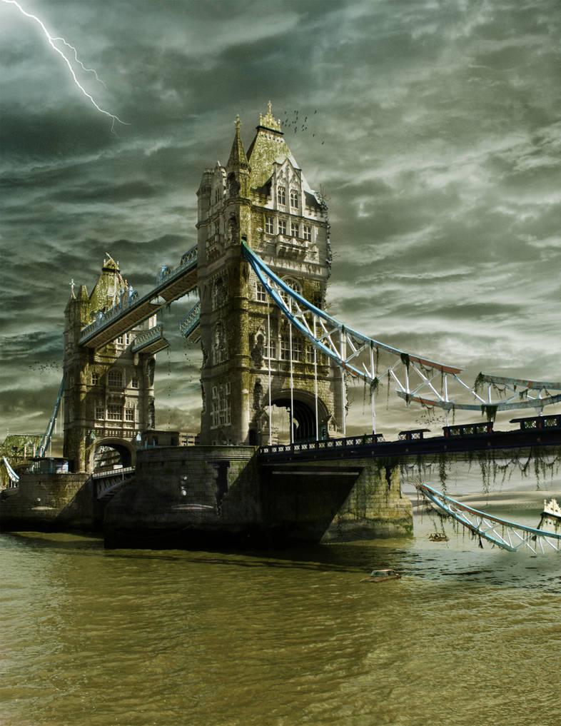 Ruins of Tower Bridge + .PSD by PSHoudini