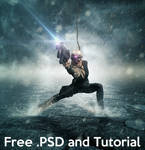 Shooter - Free .PSD file and Tutorial