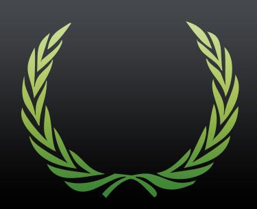 Laurel wreath custom shape