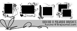 8 100x100 polaroid brushes CS3 by kumiko-asuka