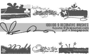 100x100 Decorative Brushes by kumiko-asuka