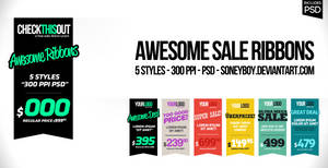 Awesome Sale Ribbons