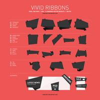 Free Vivid Vector Ribbon Pack by soneyboy