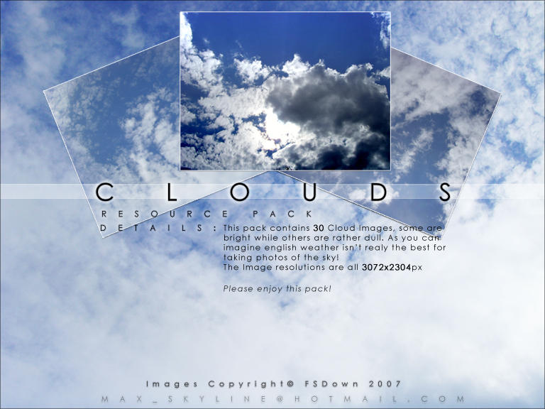 Clouds Stock Resource Pack