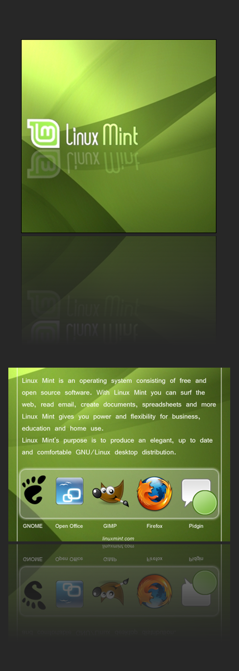 Linux Mint CD Cover Label by getfirefox
