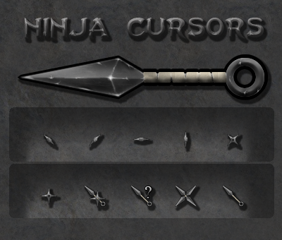Ninja Cursor Set by HellHoundx666