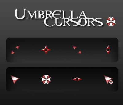 Umbrella Cursors by HellHoundx666