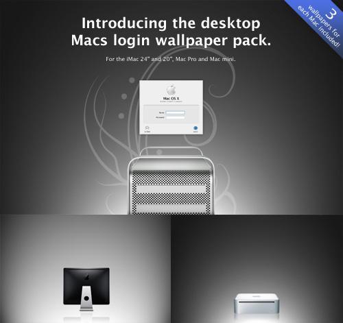 Desktop Macs login wallpapers by tyralion