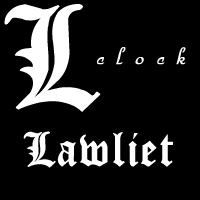 L Lawliet clock by edvordo