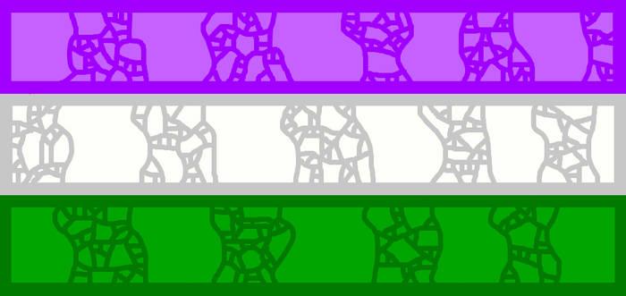 Mosaic-like Genderqueer Flag