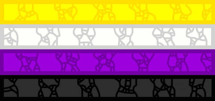Mosaic-like Non-Binary Flag