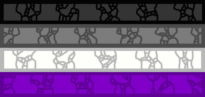 Mosaic-like Acesexual Flag