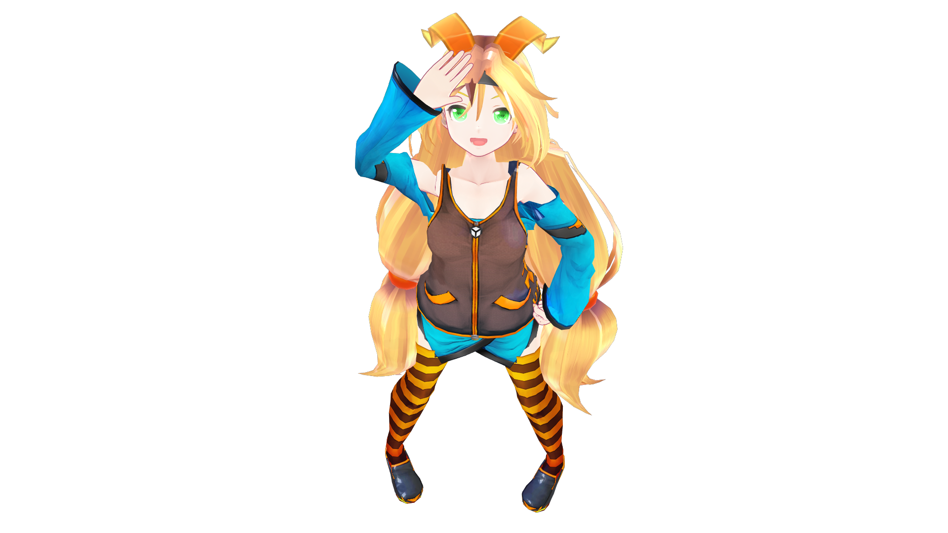 Unity Chan Chibi Model 3d: Cute Chibi Girl Anime 3d Model 3ds Max