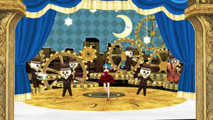 [MMD DL] Skeleton Orchestra and Lilia Stage Ver 3