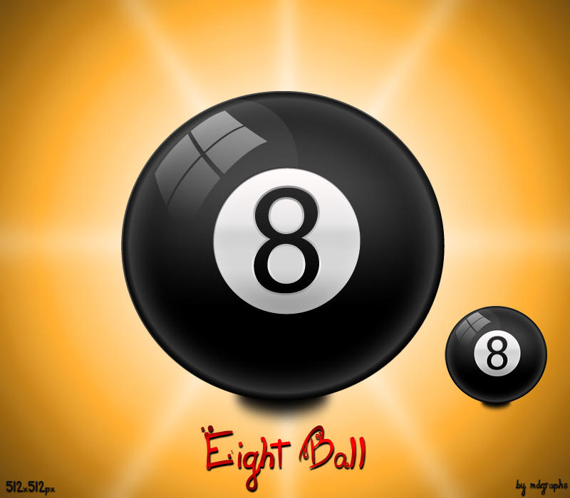 8 Ball Dock Icon by MDGraphs