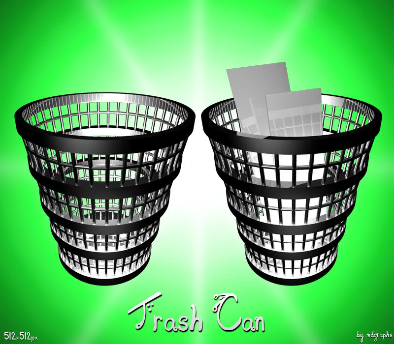 Chrome Trash Can icon by MDGraphs on DeviantArt