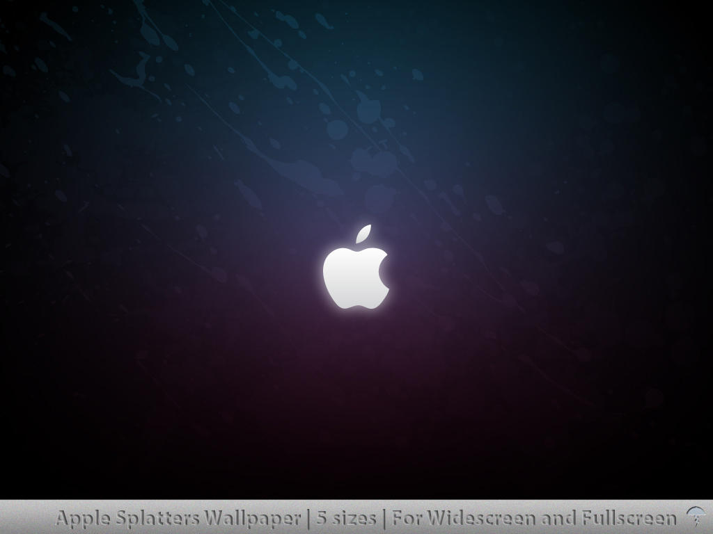 Apple Splatters Wallpaper by MDGraphs