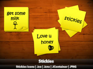 Stickies icons