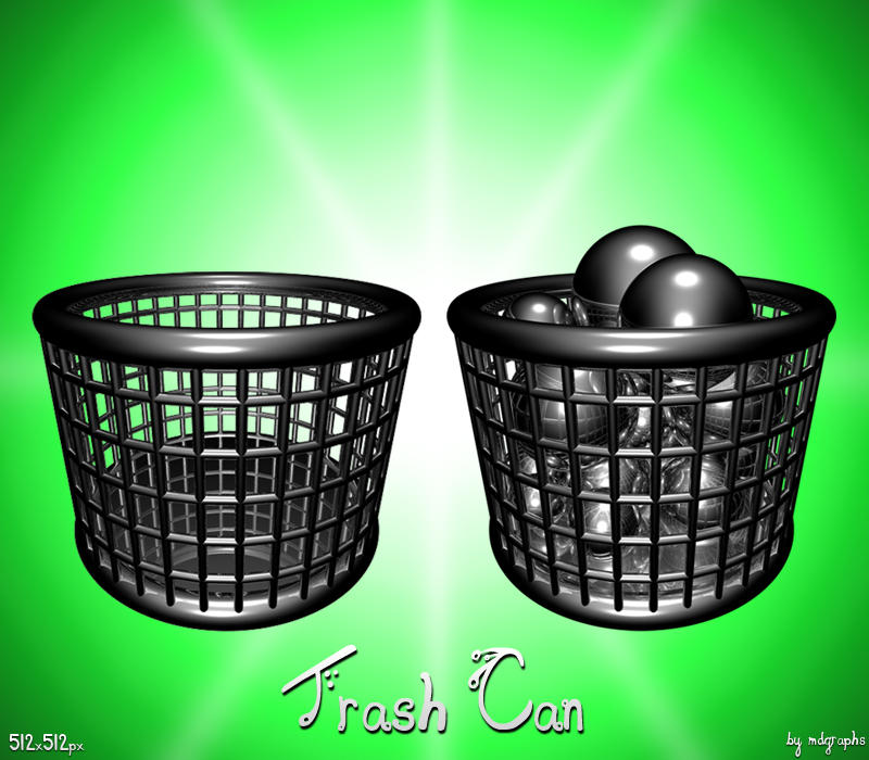 Chrome Trash Can Shpered icon by MDGraphs