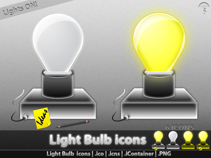 Light Bulb icons by MDGraphs