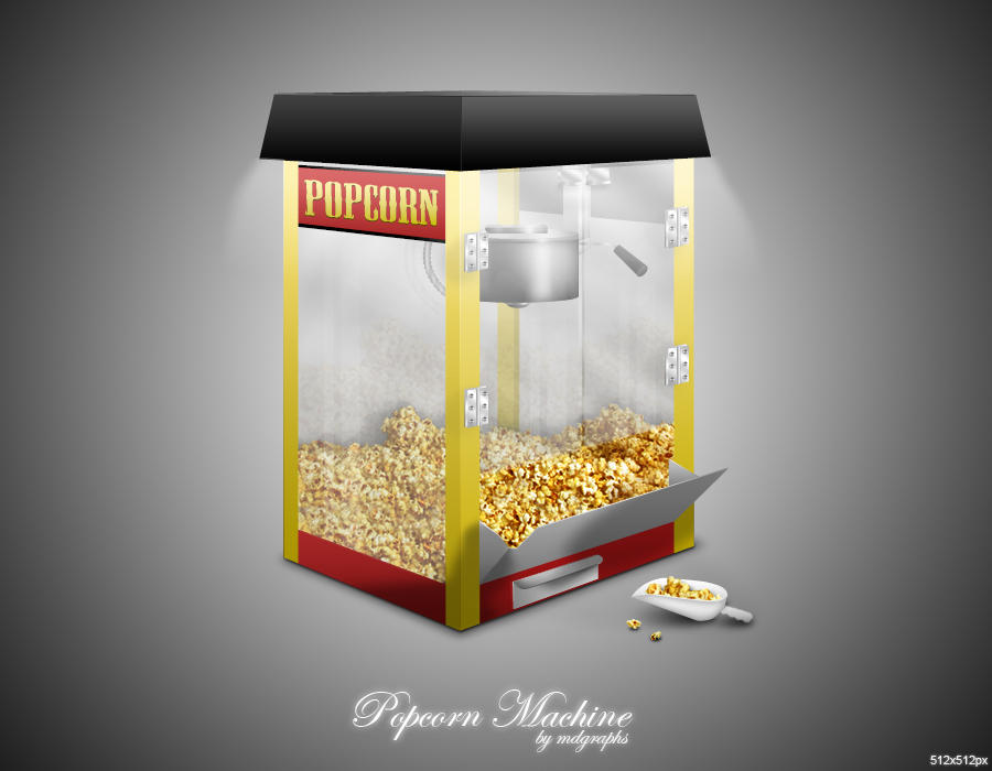 Popcorn Machine icon by MDGraphs