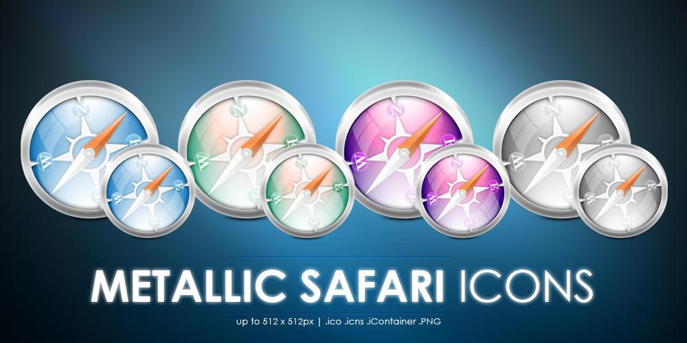 Metallic Safari icons by MDGraphs