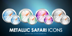 Metallic Safari icons