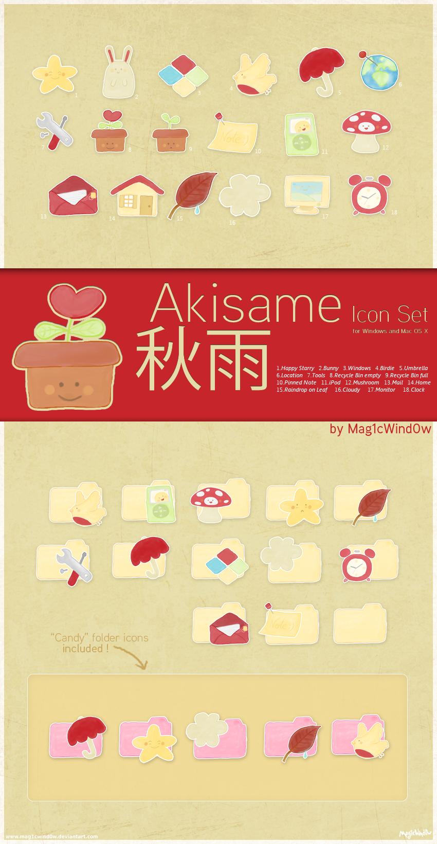 Akisame Icon Set