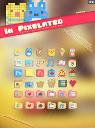 In Pixelated Icon Set