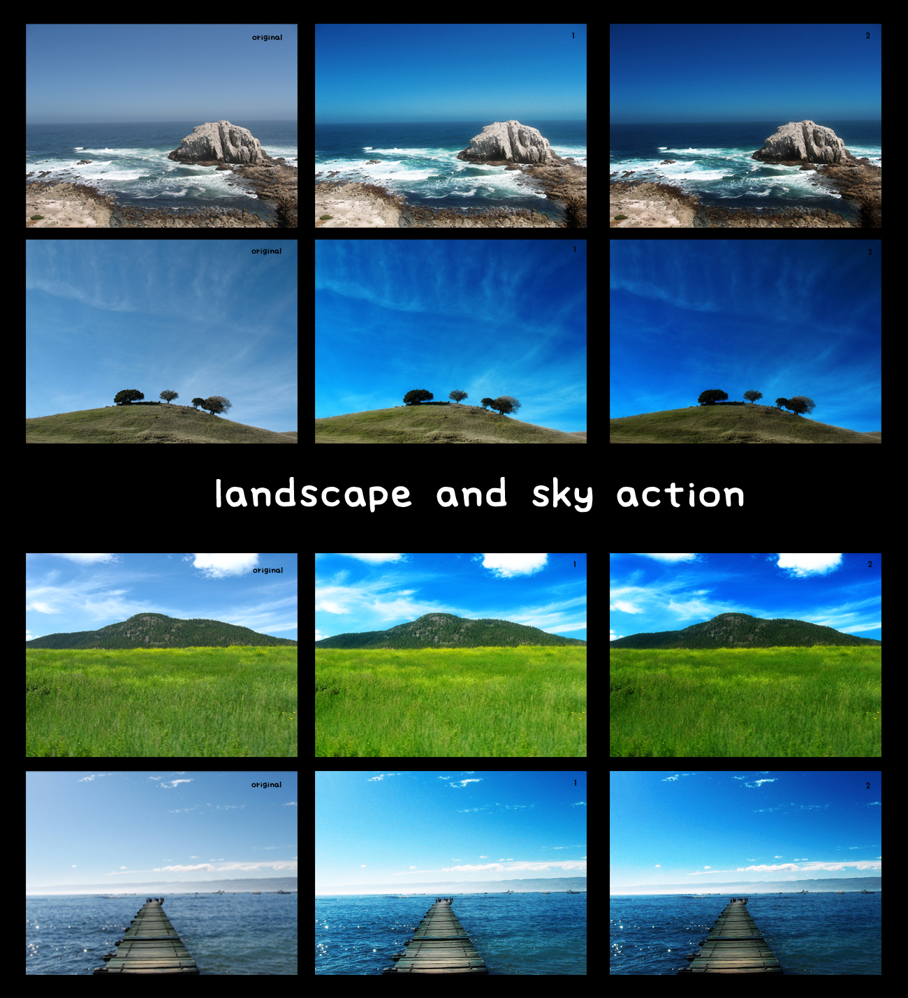 landscape and sky action