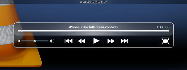iPhone alike VLC controller by LeoNico