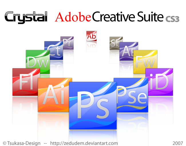 Crystal Adobe Creative Suite 3 by ZeDudeM
