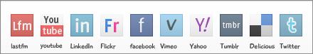 Social Media Icons by BramDevries